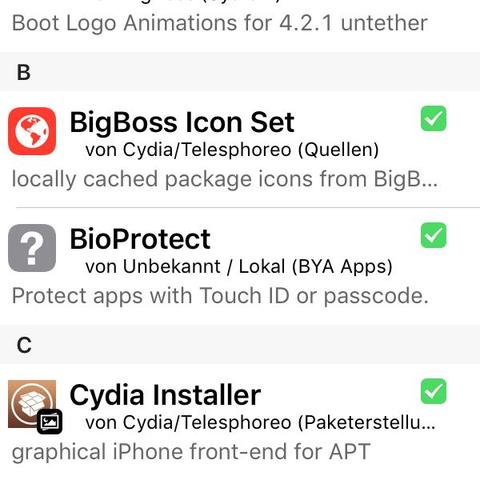 Hier seht ihr Bild 1 - (Cydia, ios9)