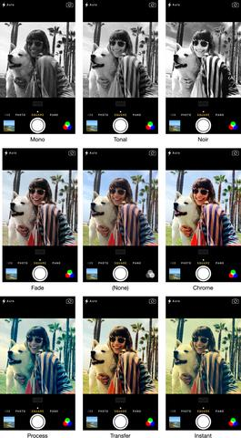 camera filters  - (iPhone, Android, App)