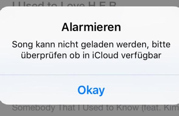 Fehlermeldung - (App, DJ, Apple Music)