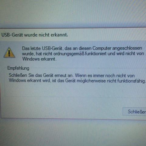 Bild: Fehlermeldung  - (Computer, Windows, Windows 10)