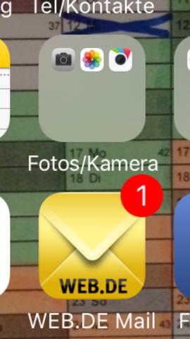 Rotes Symbol  - (Apple iPhone, iOS Kalender App)