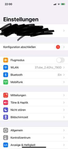 Iphone - mobile Hotspot-Funktion fehlt?