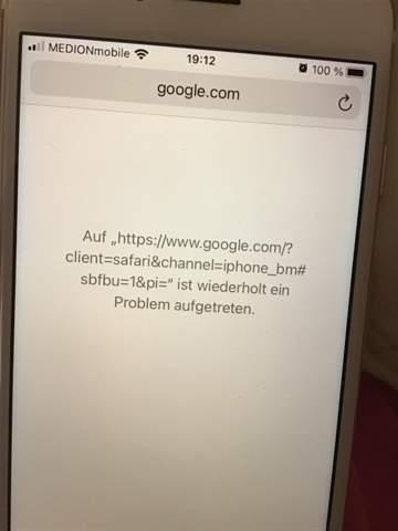 iPhone - Seiten werden dauernd neu geladen?