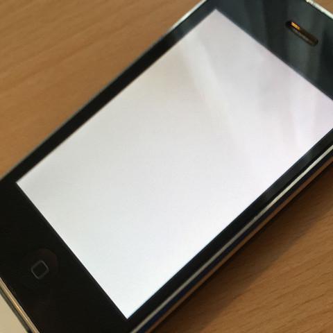 iPhone 3GS weißes Bild  - (Computer, Handy, iPhone)