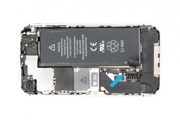 Hier sitzt die Klammer im Handy - (iPhone, Akkuwechsel)