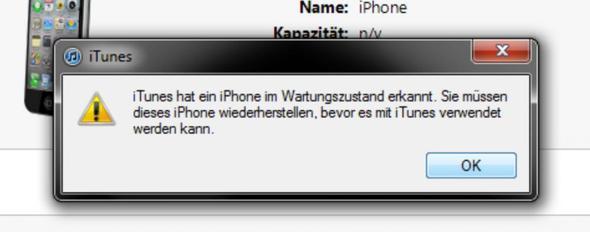 das kommt immer wenn ich nach dem wiederherstellen das iphone wieder verbinde - (iPhone, Apple, Software)