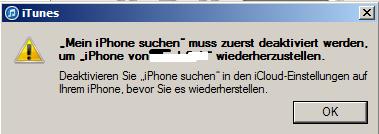 Fehler - (iPhone, Passwort)