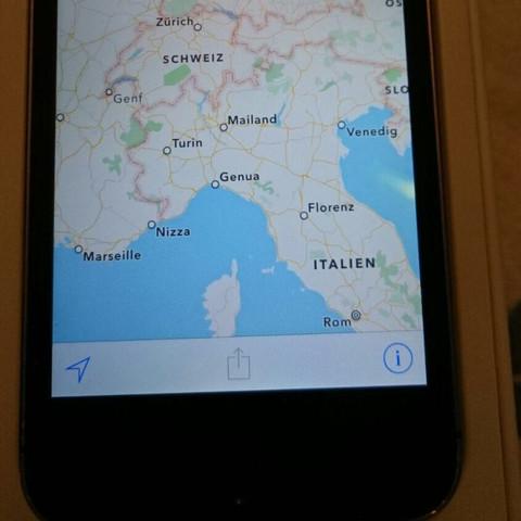 Da bei Venedig (Mitte rechts? - (iPhone, Flecken, Weißer)