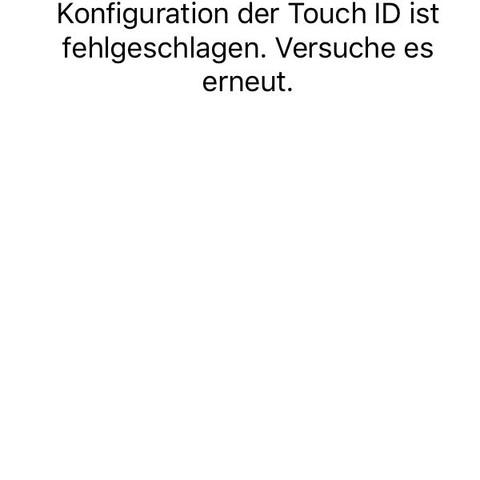 Dass passiert wenn ich Touch ID aktivieren will  - (Apple, Elektronik, Touch)