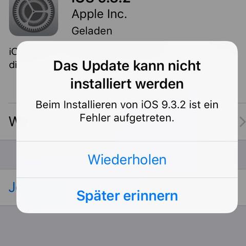 Fehlermeldung - (Internet, Handy, iPhone)