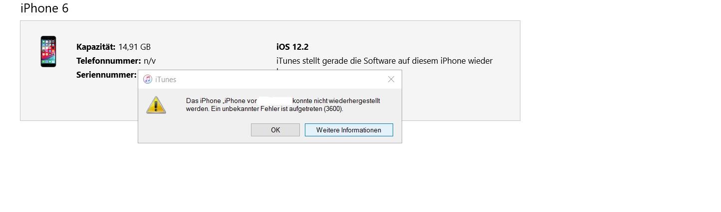 itunes iphone wiederherstellen funktioniert nicht
