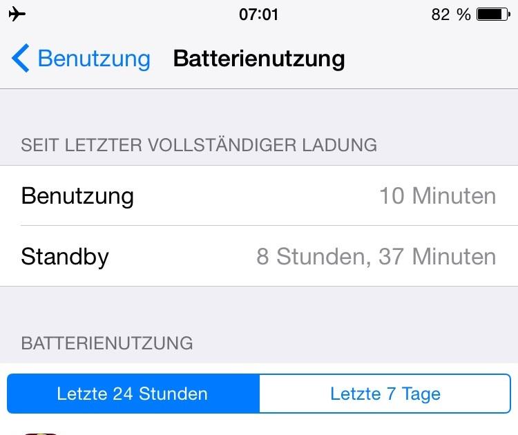 mein iphone 7 akku geht schnell leer