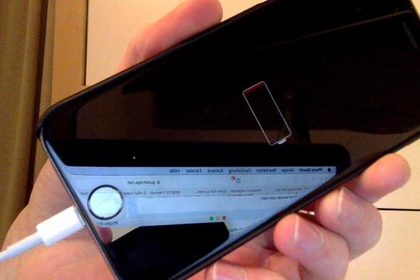 mein iphone 6 lädt aber geht nicht an
