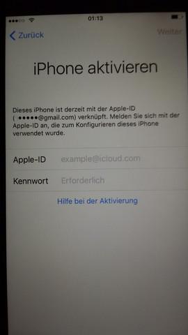 """""""iPhone aktivieren"""" - (iPhone, IPhone 6, umgehen)"""