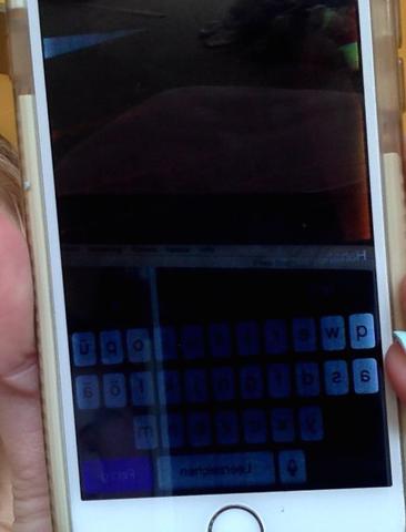Displaybild spinnt immer unterschiedlich - (iPhone)