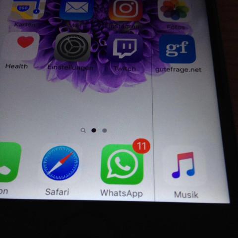 Zwischen Whatsapo und Musik - (iPhone, Fehler, defekt)