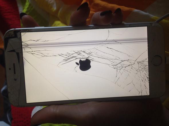 Der ist leider schon mega zerstört.. - (iPhone, Display)