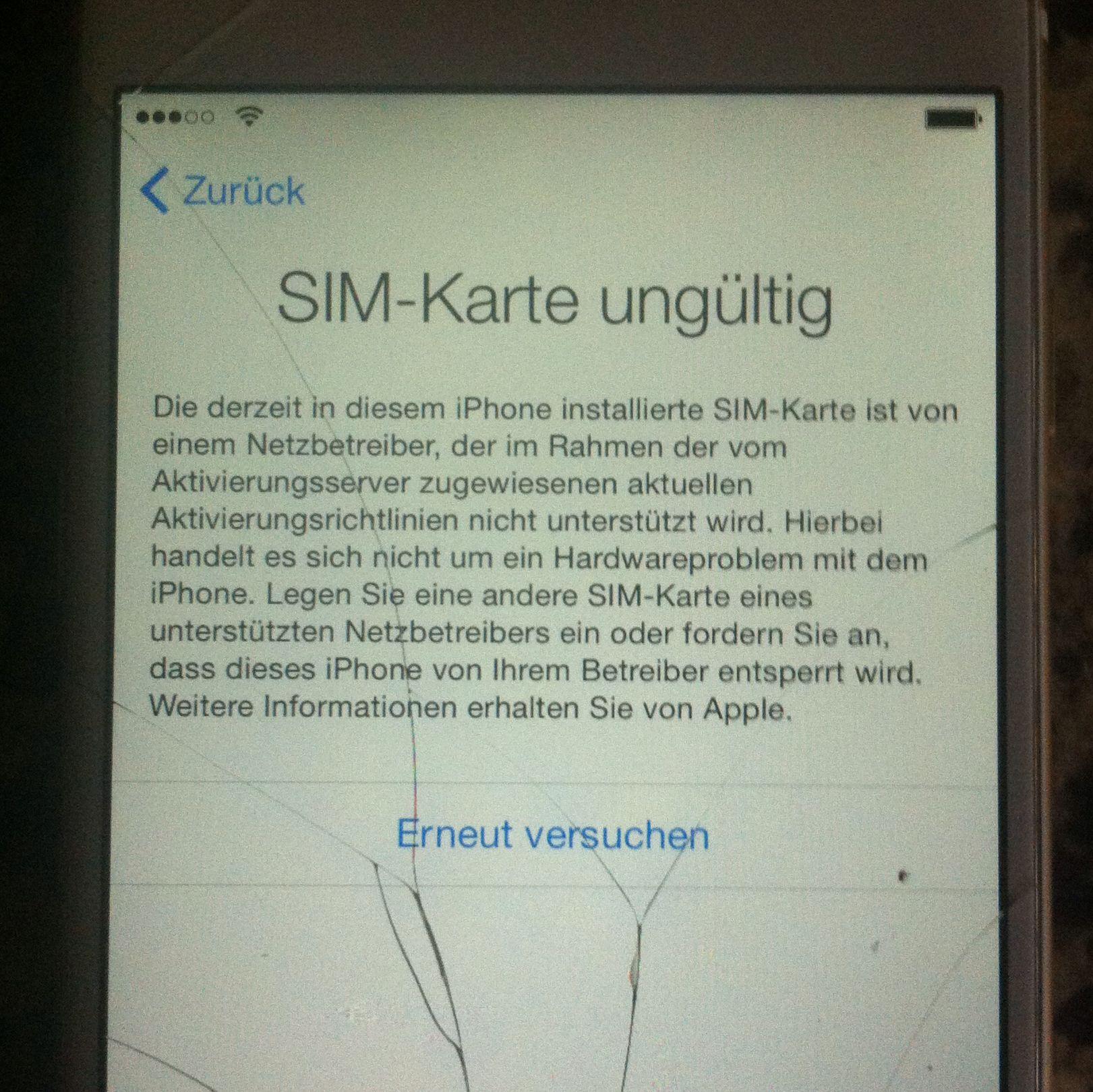 iphone 6 neue sim karte
