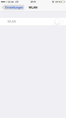 iPhone 6 WLAN Symbol wird GRAU angezeigt also das Symbol ist ...