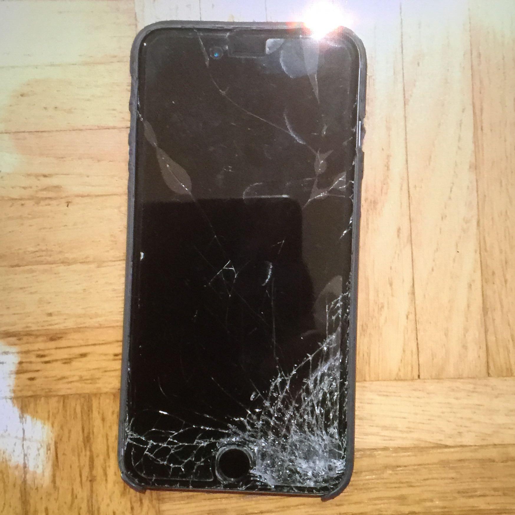 iphone 6plus kaputt heftiger schaden apple displayschaden. Black Bedroom Furniture Sets. Home Design Ideas