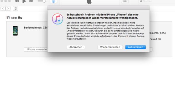 Hier ein Screenshot davon - (Handy, iPhone, Apple)