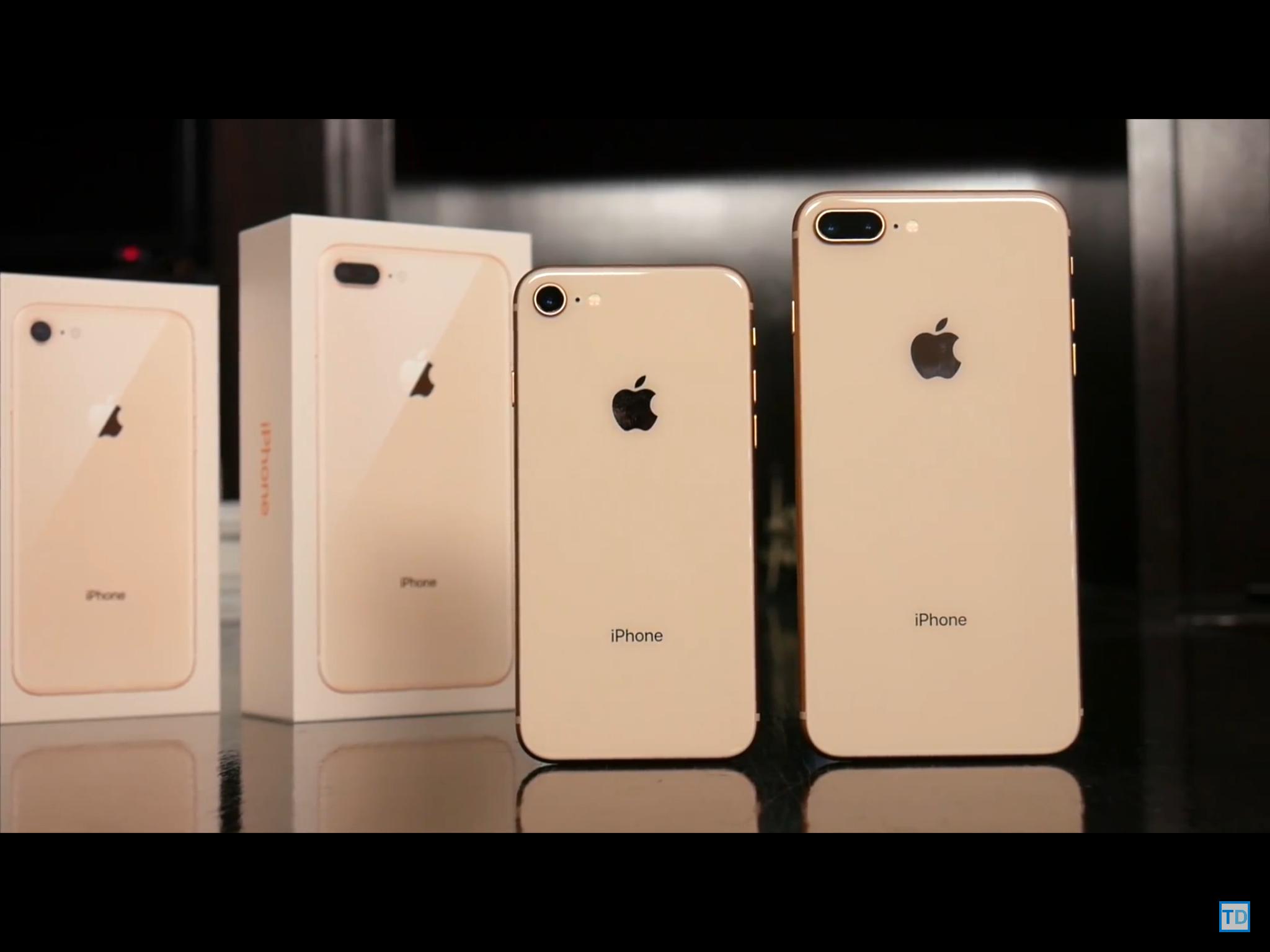 iphone 8 plus in der farbe gold technik apple smartphone. Black Bedroom Furniture Sets. Home Design Ideas