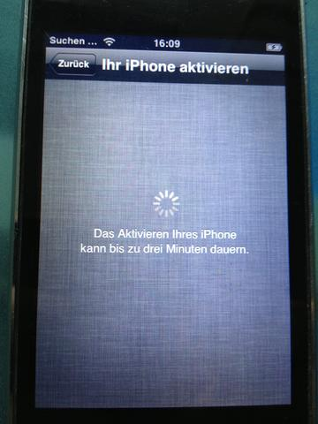 Das erscheint als erstes - (iPhone, Aktivierung)