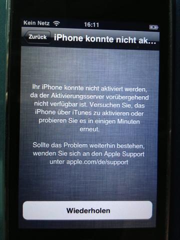 und danach das.. - (iPhone, Aktivierung)
