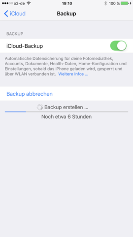 6 Stunden - (iPhone, Backup, icloud)