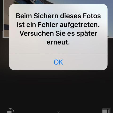 iPhone Fotoapp  - (iPhone, Foto, Fehler)