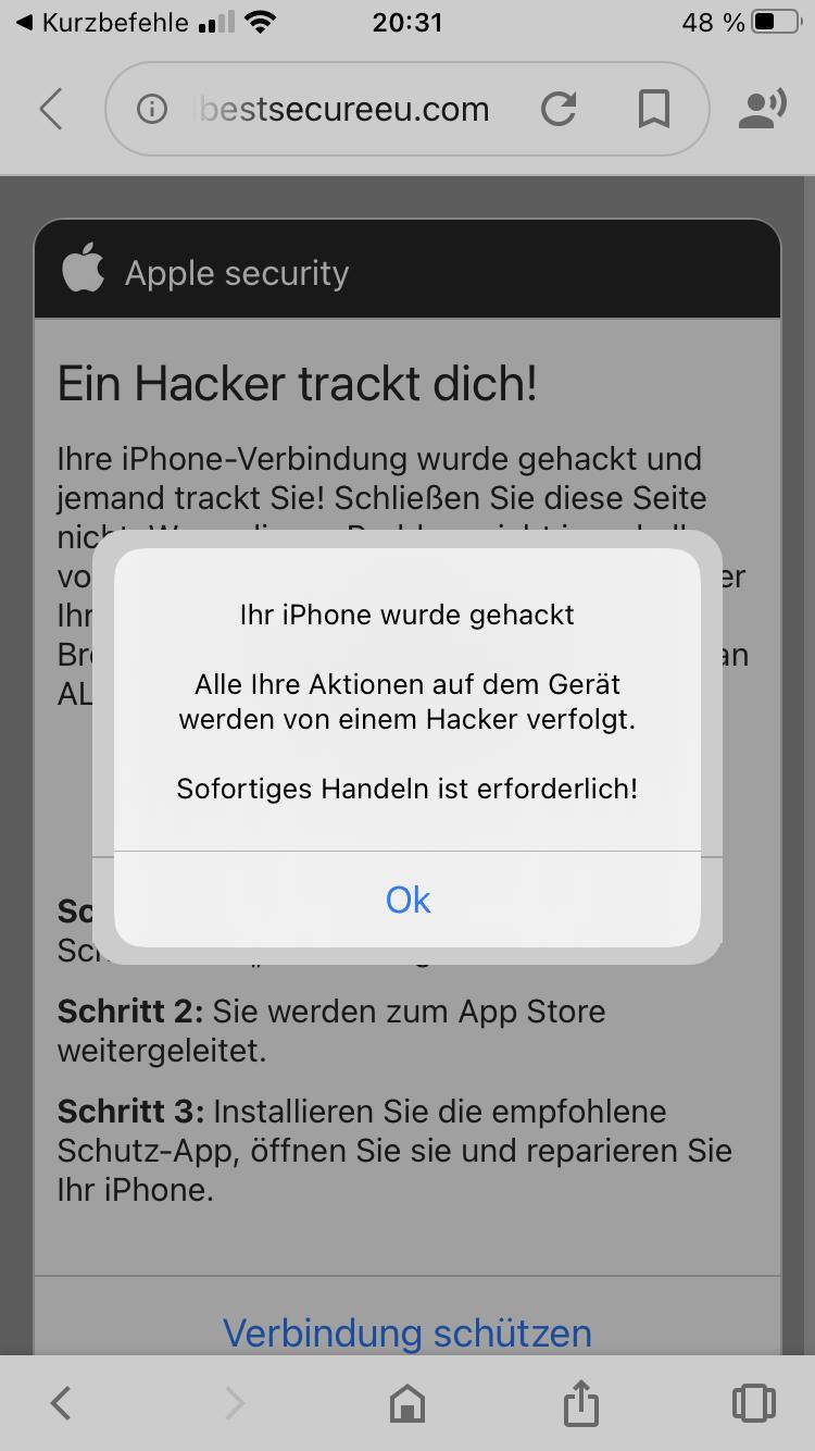 Ihr Iphone Wurde Von Einem Hacker Besucht