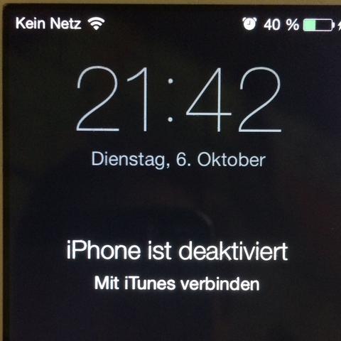 Iphone Ist Deaktiviert Mit Itunes Verbinden