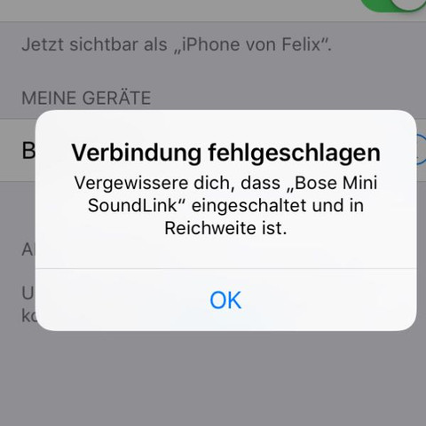 Die Meldung  - (Technik, iPhone, Bluetooth)