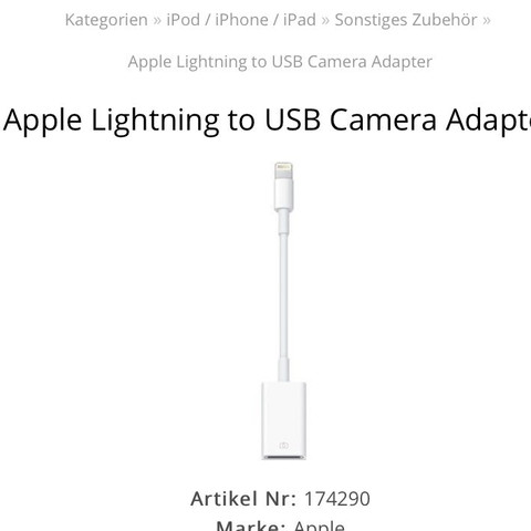 Lightning zu USB... - (iPhone, iPad, Kabel)