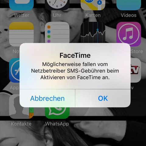 Mitteilung kosten iPhone  - (iPhone, Mitteilung)