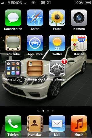 **iPhone Menü** - (iPhone, Update)