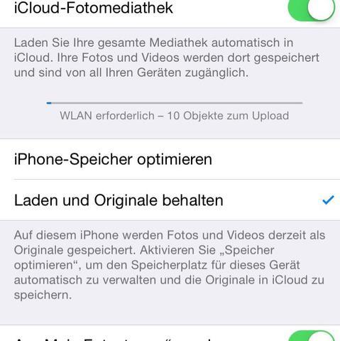 Laden und originale behalten  - (iPhone, Apple, Bilder)