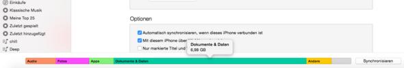Speicherstatus - (iPhone, Speicher)