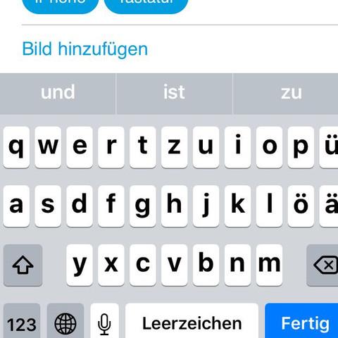 So sieht alles normal aus - (iPhone, Tastatur)