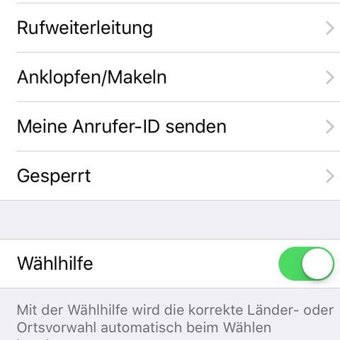Hier ist ein scrennshot  - (iPhone, Apple, unbekannt)