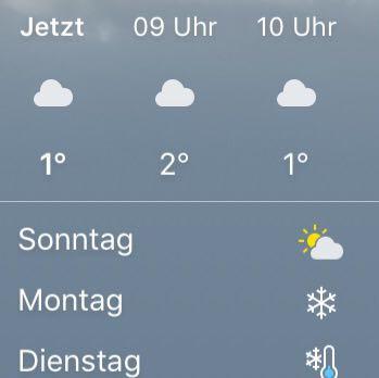 Wetter  - (Schnee, Wetter Iphone)