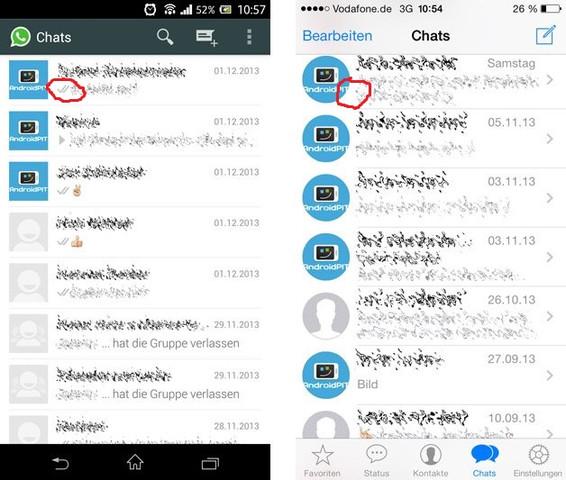 Android - iOS - (iPhone, WhatsApp)