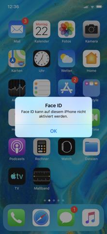 Face Id Funktioniert Nicht Mehr