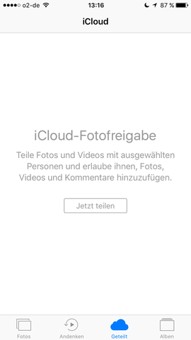 Meldung in Fotos - (Apple, iPhone, iPad)