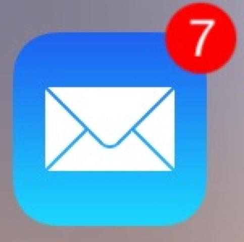 hier stehen sieben mails aber: - (iPhone, Apple)