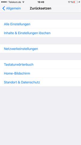 iphone 5 auf werkseinstellung