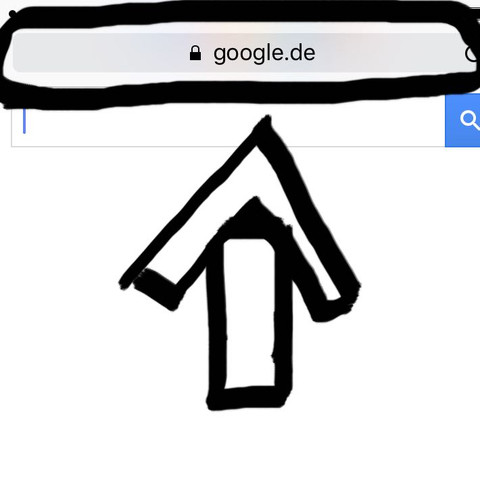 Hier oben die Spalte wo Google steht :/ - (Internet, Handy, iPhone)