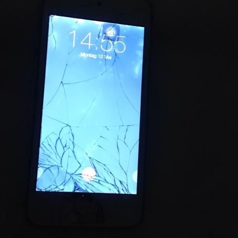 Der iPod touch 5g die Scheibe kaputt  - (kaputt, Display, scheibe)