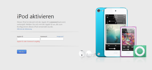 sperre - (Apple, iPod, iPod Touch)