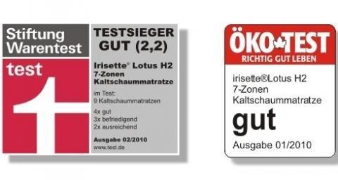 Irisette Lotus Kaltschaum Matratze Testsieger 2010 Schlafen
